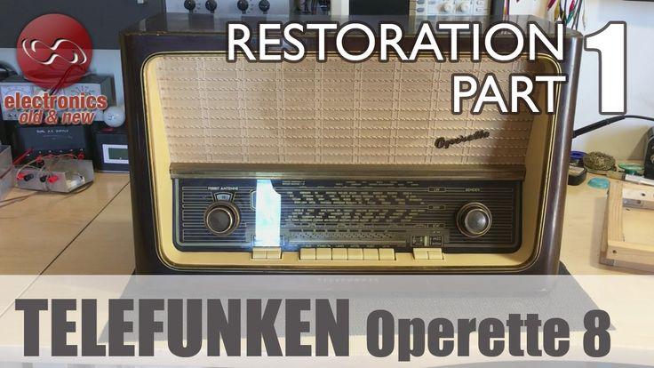 Telefunken Operette 8 tube radio restoration - Part 1. First look and tr...