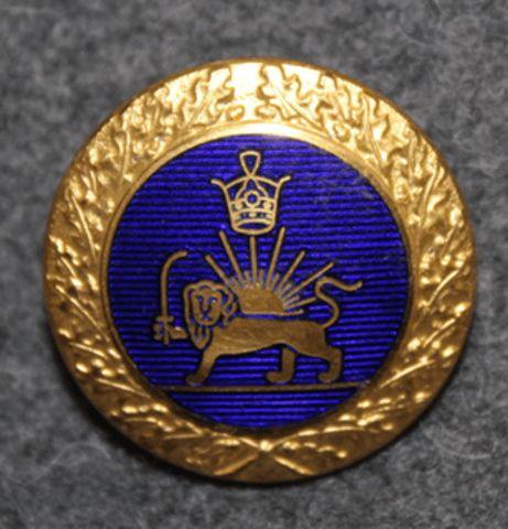Iran / Persia army, 22mm, blue enamel /gilt