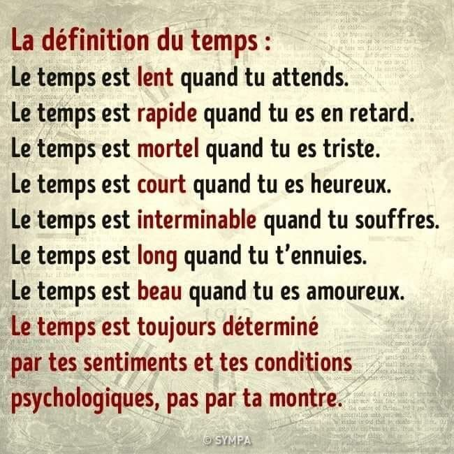 La Definition Du Temps Belles Citations Citation