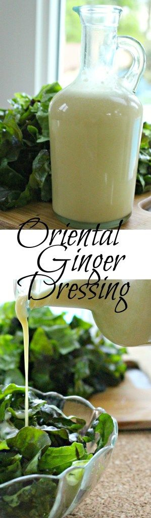 Oriental Ginger Dressing  The perfect salad dressing that is similar to Applebee's oriental chicken salad dressing but healthier and still just as yummy! |healthy salad dressing| |gluten free| |salad