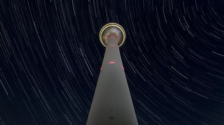 Photographs of Architecture - Startrail about the Berliner Fernsehturm