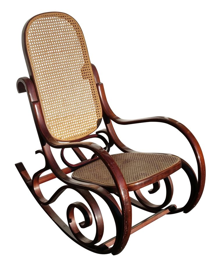 """Gorgeous two tone Thonet Bentwood Rocker with cane back. There is very minor wear on the legs. Seat is 18"""" X 16 3/4"""""""