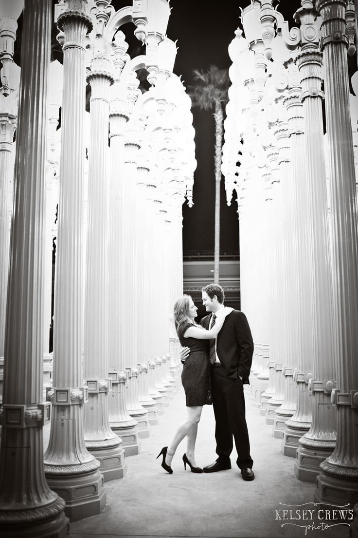 affordable wedding photographers in los angeles%0A Los Angeles Engagement Photography  at the LACMA Urban Lights Installation   by Santa Barbara Wedding Photographers  Kelsey Crews Photo    Pinterest    Engag u