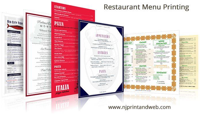 Restaurant Menu Prinitng Make Menus Online Quick