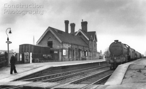 Gedling station on the Great Northern Railway in Nottinghamshire with a K3 Class at the head of a fr