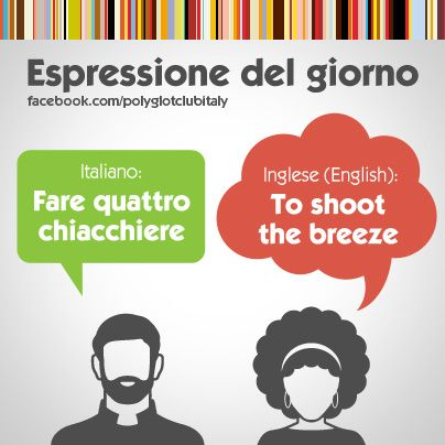 Italian / English idiom: to shoot the breeze