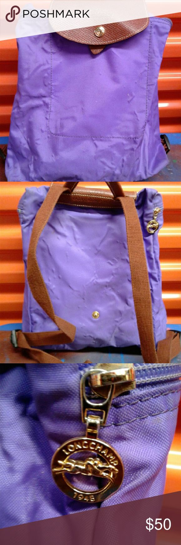 Authentic Longchamp Le Pilage Backpack SALE This is purple  and I had it for a while as it shows. Up for quick sale Longchamp Bags Backpacks