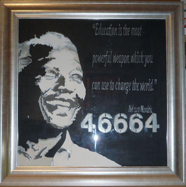 #Nelson Mandela #Glass Painting #art #Mandela #Glass