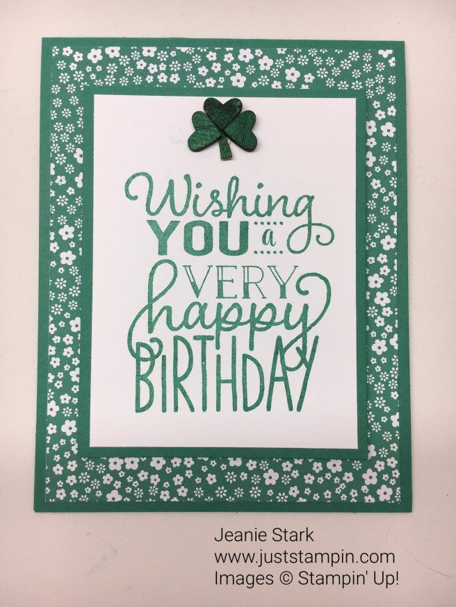 Big On Birthdays St Patricks Day Birthday Card Idea Jeanie Stark