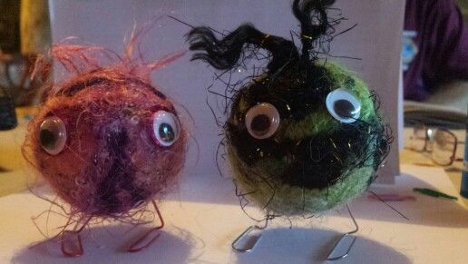 A pair of felty critters. Cheryl Cook