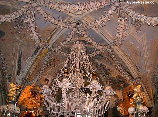 Bucket List Item: Macabre Human Bone Church of Sedlec, Czech Republic - See more: http://www.huffingtonpost.com/the-gypsynesters/prague-travel_b_4064310.html