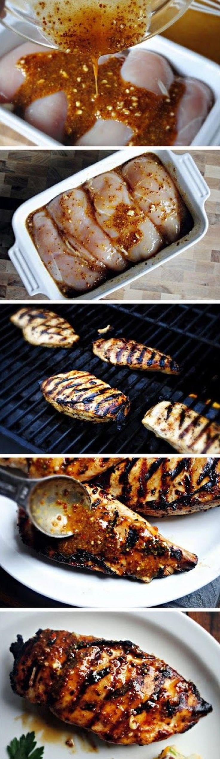 Grilled Honey Mustard Chicken - 15 Grilled Chicken Recipes to Make This Summer | GleamItUp