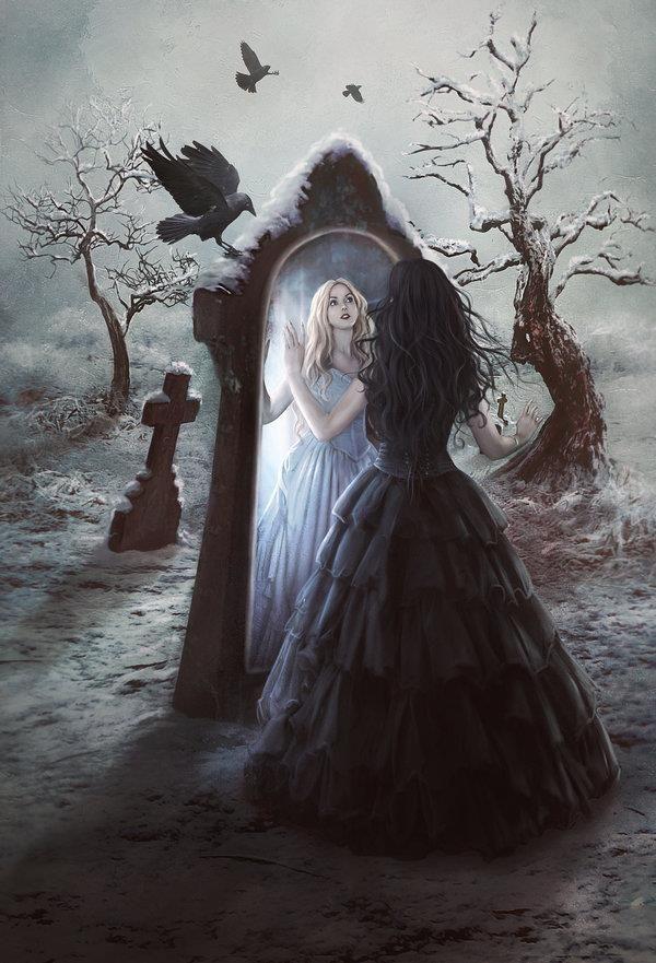 Amazing Mirror Reflection Photoshop Manipulations Dark Fantasy Art Gothic Fantasy Art Fantasy Photography