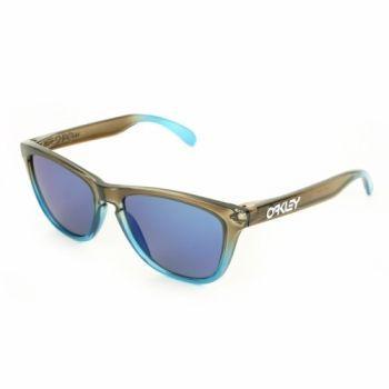 oakley sunglasses cheap frogskins  oakley frogskins sunglasses rootbeer cyan fade/ blue iridium