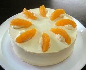 オレンジカスタードケーキ