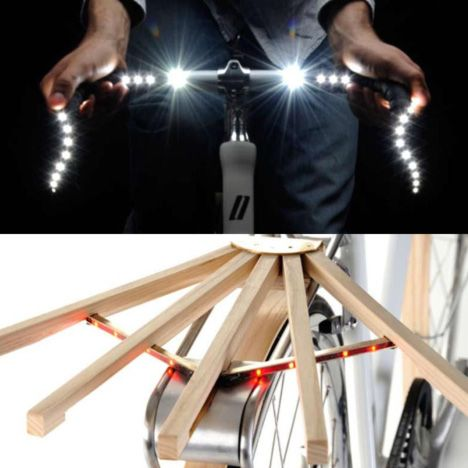 hidden LEDs: Bike Happy, Hidden Led, Funky Lights, Business Baskets, Boys Scouts, Favorite Outdoor, Fixie Pixie, Bicycles Accesories, Bicycles Paraphenalia