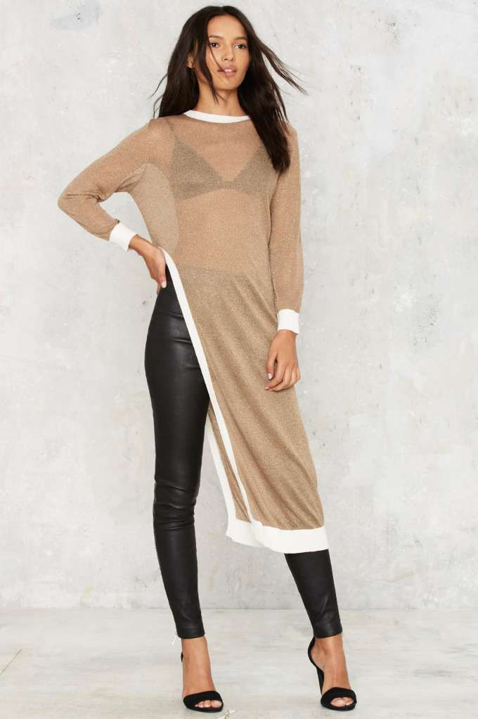 Asilio The Crystal Method Knit Maxi Top - Sale: 40% Off | Sweaters