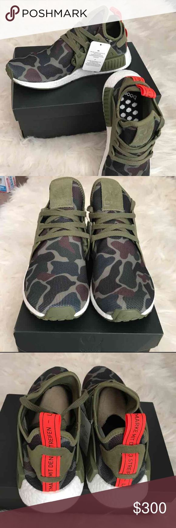 """Adidas NMD black Adidas NMD R1 black.  For men  10.  100 percent Authentic. LIMITED EDITION. Adidas PrimeKnit (This run Half Size Bigger) Brand New come w Adidas Box. """"Sold OUT EVERYWHERE"""" DEADSTOCK. Find me at Merc name (jacklin51)  for better Price Adidas Shoes Sneakers"""