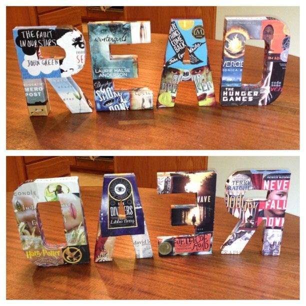 READ - my crafty project for my #library using YA book covers