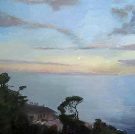 Cathy Layzell, Moonrise at Kalk Bay