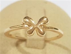 .925 Sterling silver bow gold plated midi ring