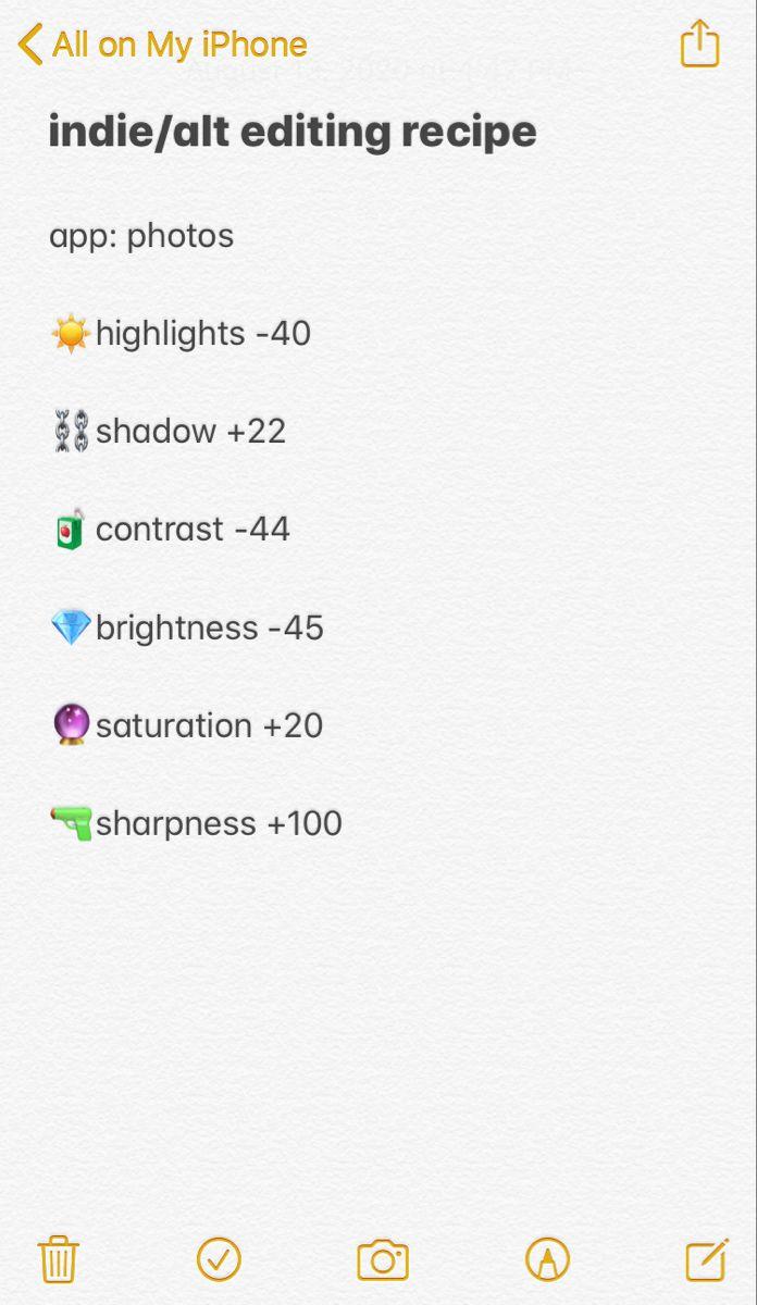 Indie Alt Editing Recipe Aesthetic Filter Instagram Story Filters Indie Alt