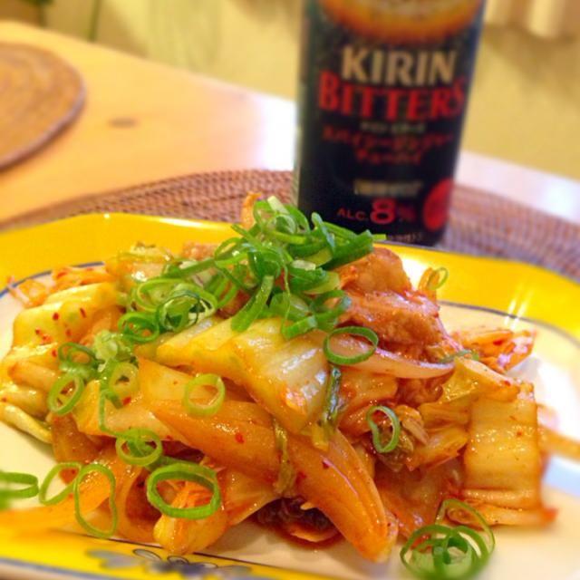 ビールに よく合う。醤油と味醂で味付けしました - 10件のもぐもぐ - 豚キムチ by Keiko  Inatsugi