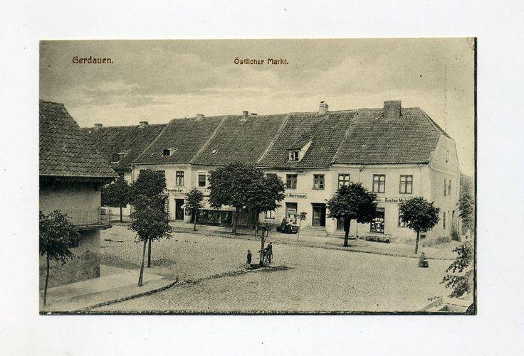 um 1930 Dt. Reich Ostpr. Foto - AK Gerdauen Östlicher Markt (Schelesnodoroschny)
