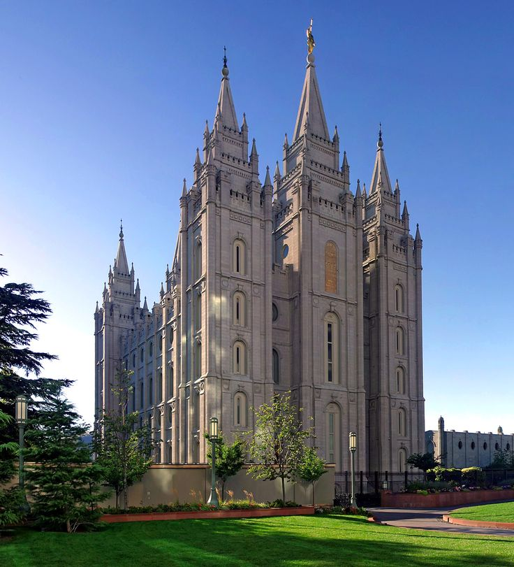 Salt Lake Temple is the centerpiece of the 10-acre (4.0 ha) Temple