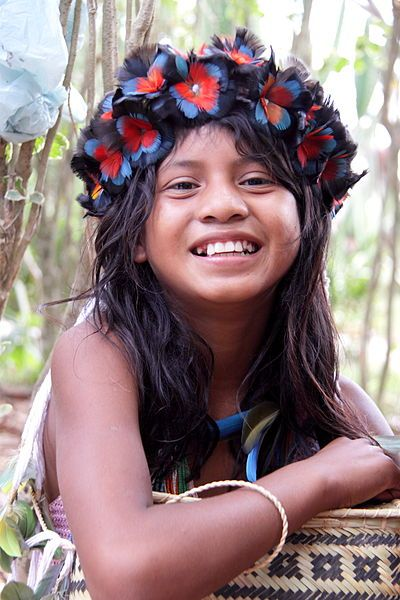 This girl is of the Pareci-Haliti, from Mato grosso, Brazil.
