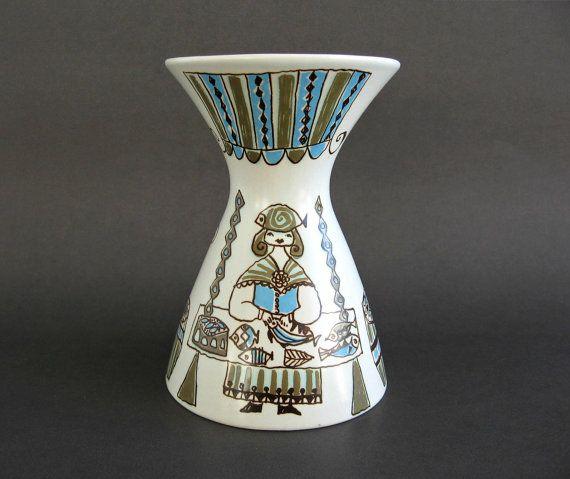 Figgjo Flint Norway Hourglass Vase /  Turi by WestCoastModern, $45.00