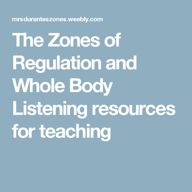 The Zones of Regulation and Whole Body Listening resources for teaching
