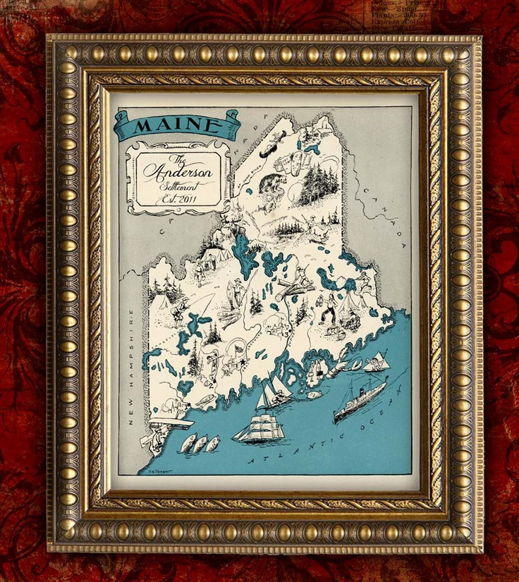 184 best maps images on pinterest illustrated maps for Classic housewarming gifts
