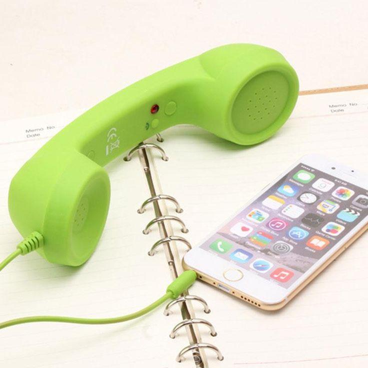 3.5mm anti-radiasi Telepon Kabel Telepon Headset Portabel Headphone Earphone dengan Mic untuk Semua Jenis Ponsel Tablet