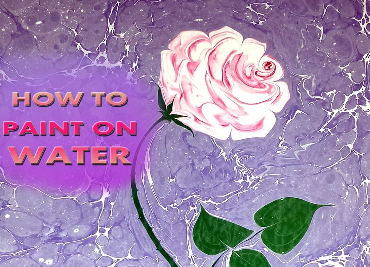 HOW TO PAINT PINK ROSE ON WATER Ebru Sanati Pembe gül