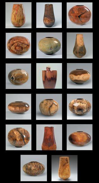 Matt Moulthrop turned wood bowls; great for shapes