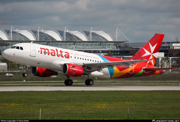 Air Malta Airbus A319-112 9H-AEH aircraft, on short finals to Germany Munich International Airport. 26/04/2015.