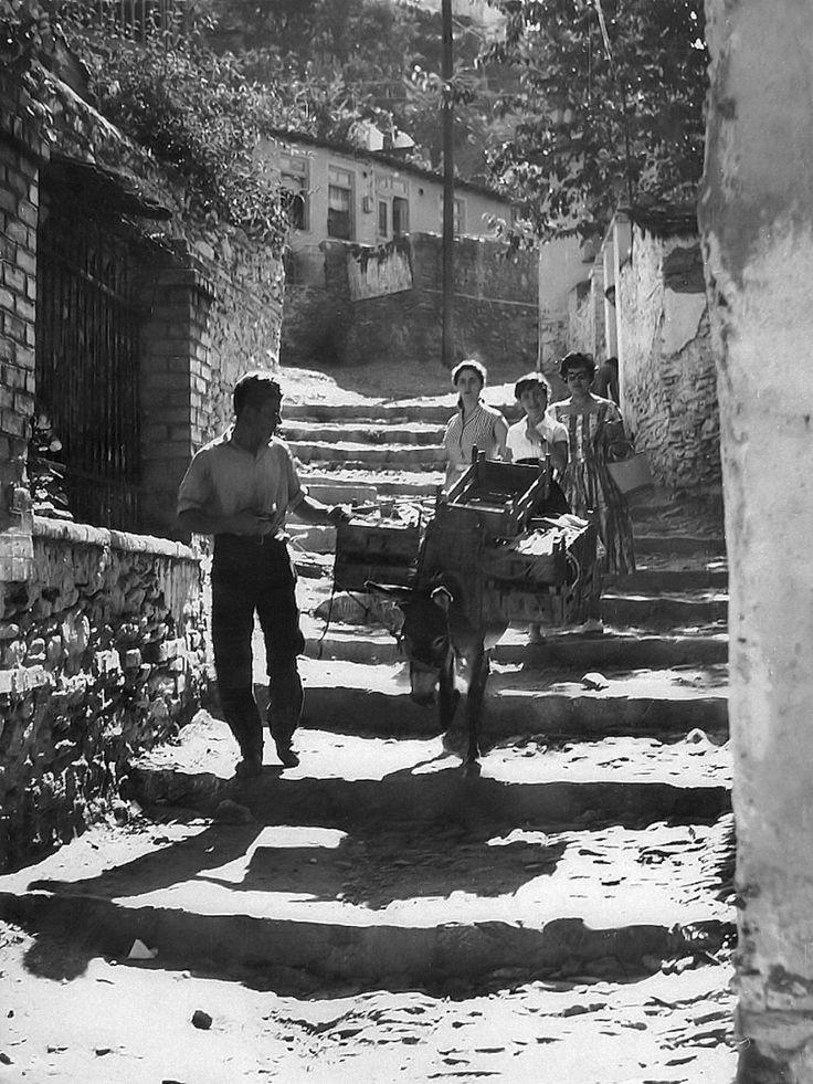 Μανάβης στην Άνω Πόλη το 1959
