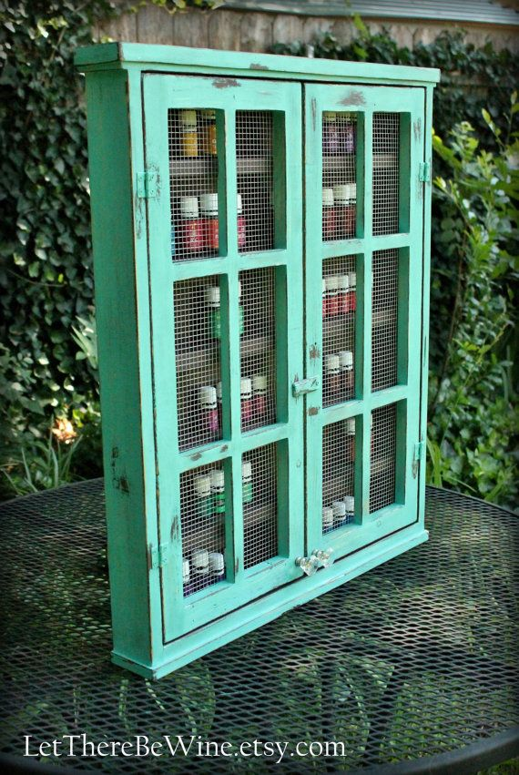 ESSENTIAL OIL STORAGE Shelving / Nail Polish Cabinet or Display Box Shelf with double doors