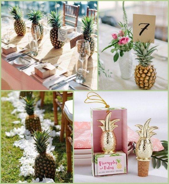 Hawaiian Wedding Reception Ideas: Pineapple Inspired Tropical Wedding Ideas From HotRef.com
