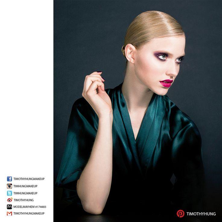 Makeup, hair, styling by Timothy Hung. Photography by Patryk Widejko. Model Chloe @ Nobasura.
