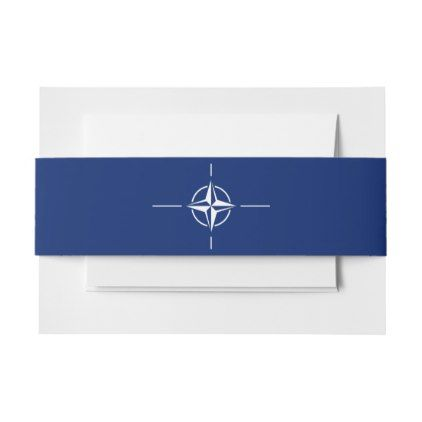 #NATO Flag Invitation Belly Band - #Invitation #Belly #Bands #Bellybands