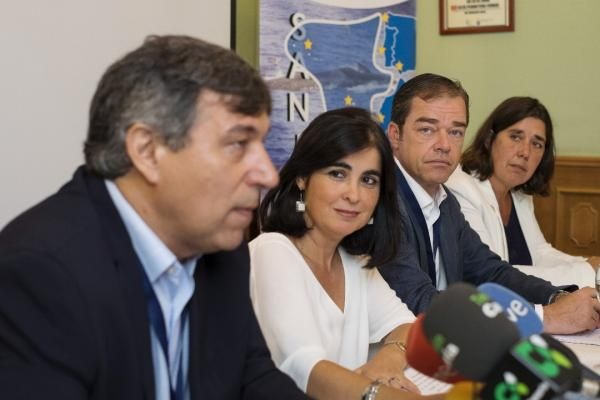 Rueda de prensa en Las Palmas de Gran Canaria de la presentación de la Red para la Salud de los Cetáceos en la Macaronesia. EFE/Ángel Medina G.