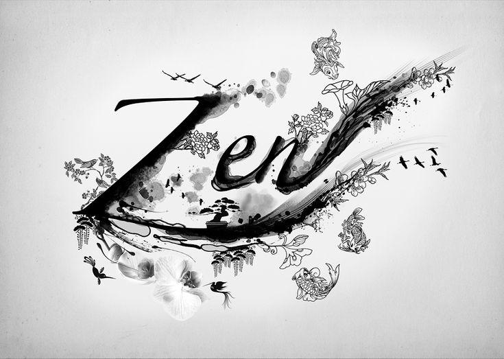 Zen: Natural Skin, A Mini-Saia Jeans, The Art, Inspiration, Philosophy Skin Care, Typography Design, Digital Art, Graphics Design, Brushes Strokes