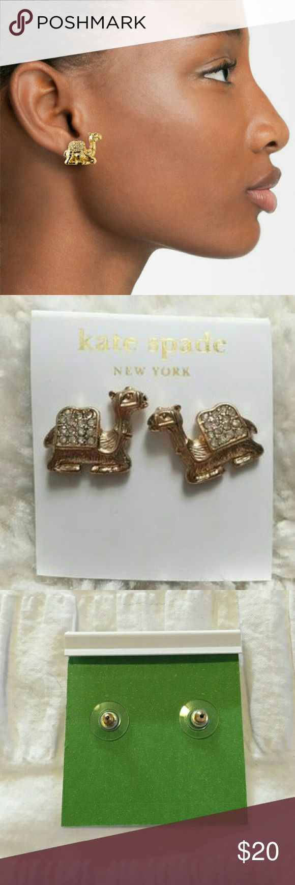 "Kate spade wild one camel earrings studs Bought online. came with the Kate spade earrings card. The earrings themselves not marked ""Kate spade"". Never worn. FINAL PRICE kate spade Jewelry Earrings"