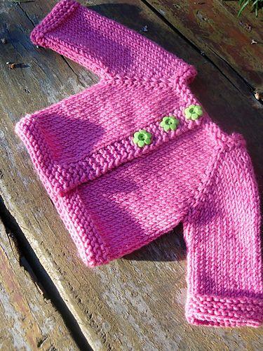 Chaqueta en punto liso, a calceta, sencilla y resultona by tikkifabricaddict.