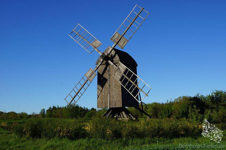 Egeby Mølle, Bornholm #EgebyMølle #Bockwindmühle #Mølle #Mühle #Windmühle #Mill #Windmill #Bornholm #Dänemark