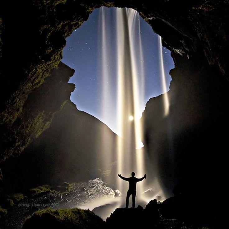Kvernufoss Waterfall, Iceland.