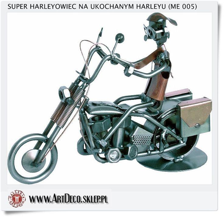 Jaka Figurka statuetka Harley-Davidson - Harleyowiec na motorze - Na prezent