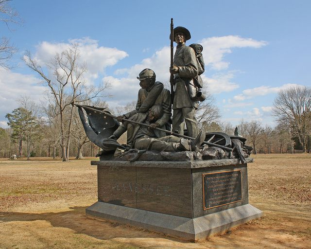 Battle Of Shiloh Monuments The Tennessee Monument At